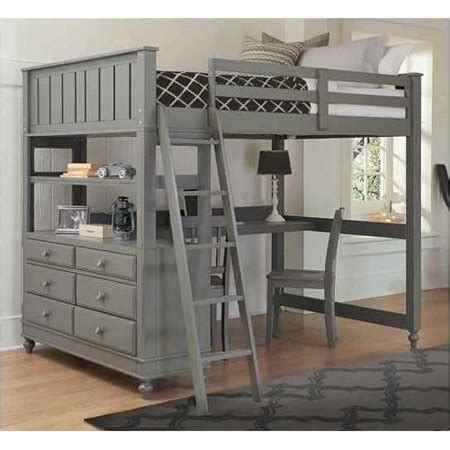 full loft bed  desk stone walmartcom
