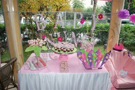 Pink And Purple Baby Shower Theme by Pink Purple And Green Theme Table Baby Shower