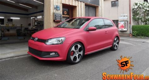 Auto Fußmatten Vw Golf 6 by Polo 6r Gti Wrapped In Matte Cherry Red Autoevolution