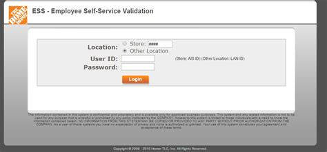 home depot mythdhr ess login convenience bank