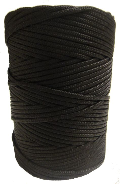 timko  mm black braided coloured nylon cord   braided nylon twine