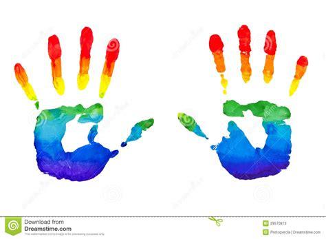 imagenes de uñas pintadas manos manos pintadas arco iris fotos de archivo imagen 29570873