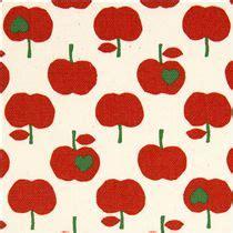 Squishy Apel Gigit Apple Squishy s 252 sser weisser apfel stoff mit roten 196 pfeln kokka
