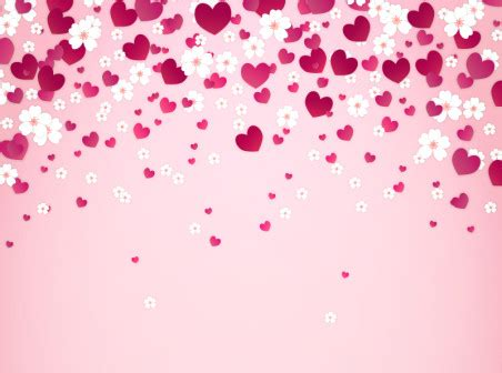 love pattern background vector love and flowers background vector free vector