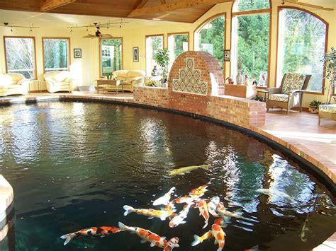 indoor fish pond inspirations modern indoor fish pond design to decoration