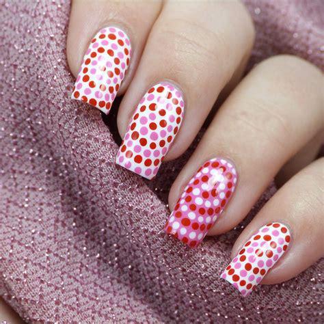 imagenes de uñas rojas con blanco 35 creativos dise 241 os de u 241 as con puntitos