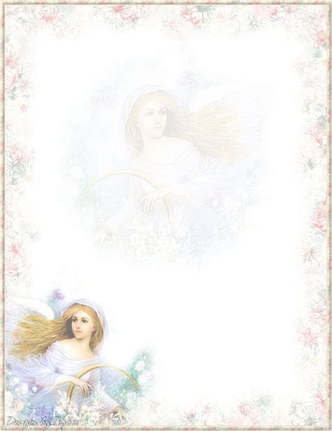 printable angel stationery my printable stationary creations 3 sophia designs