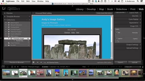 adobe lightroom templates adobe lightroom 5 tutorial generating a web gallery and