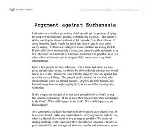 Against Euthanasia Essay by Argument Against Euthanasia Gcse Religious Studies Philosophy Ethics Marked By Teachers