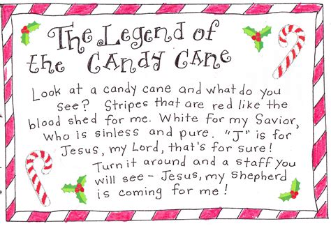 printable version of the legend of the christmas spider the legend of the candy cane free printable happy
