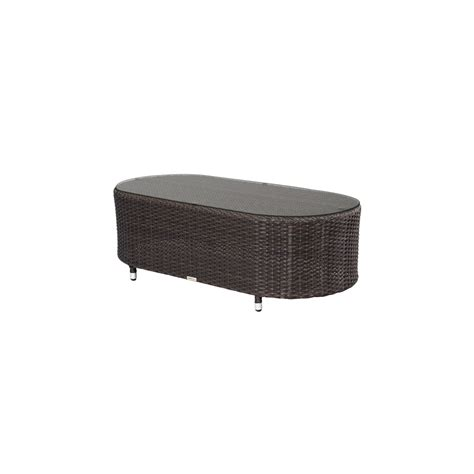 source outdoor circe oval coffee table wicker coffee