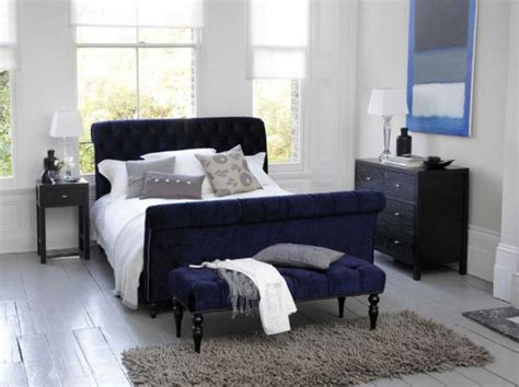 blue and white bedroom modern bedroom in dark blue and white