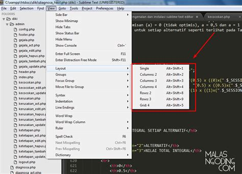 tutorial layout editing tutorial sublime text editor part 4 multi layout malas