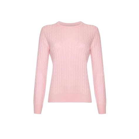 Baby Jumper Pink cable neck jumper baby pink
