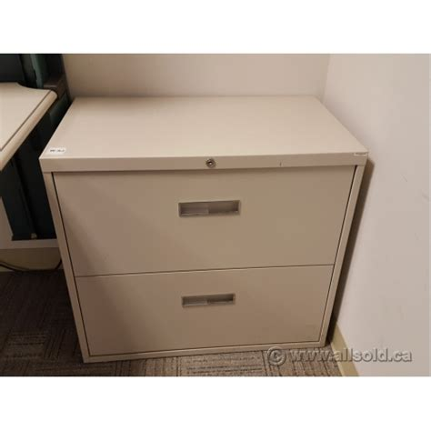 beige 30 quot 2 drawer lateral file cabinet locking allsold