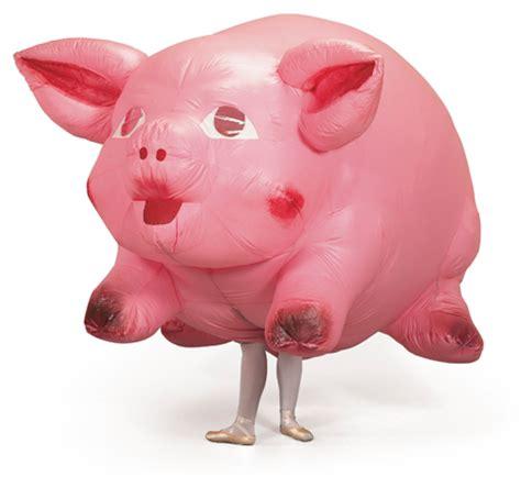 pig costume for jeff koons artwork pig costume