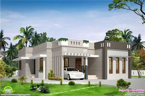 house plans single 2 bedroom single storey budget house kerala home design