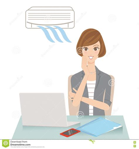 comfortable temperature for air conditioning office of the thermal comfort stock vector image 73486364