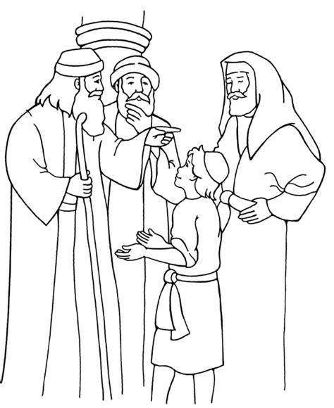 Free Coloring Page Jesus In The Temple | jesus in the temple coloring page