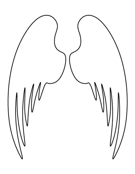 wings template wings pattern use the printable outline for crafts