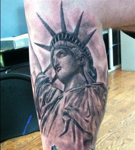 pachuco tattoo statue of liberty by rob galvan pachuco in orange