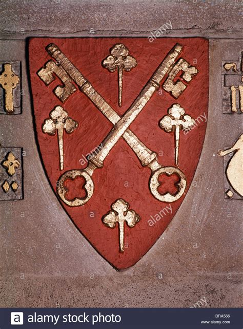 Christian Two christian symbol of shield with two crossed and 4 st