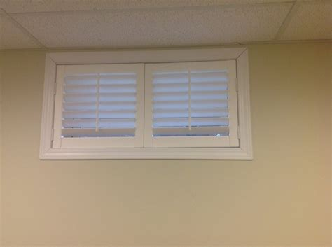 basement window blinds at menards cabinet hardware room