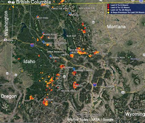 map of current wildfires dozens of wildfires active in montana and idaho