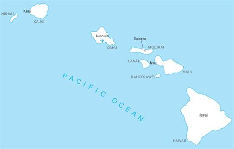 map of us states and hawaii hawaii united states map