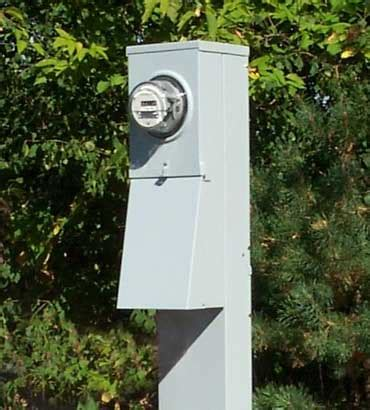 200 amp metered mobile home electrical service pedestal electrical materials company