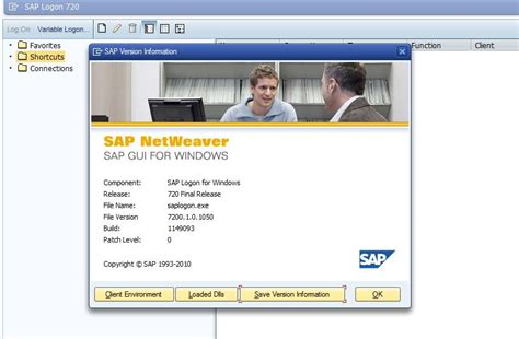 tutorial sap versi 14 sap basis tutorials how to find out sap gui version and