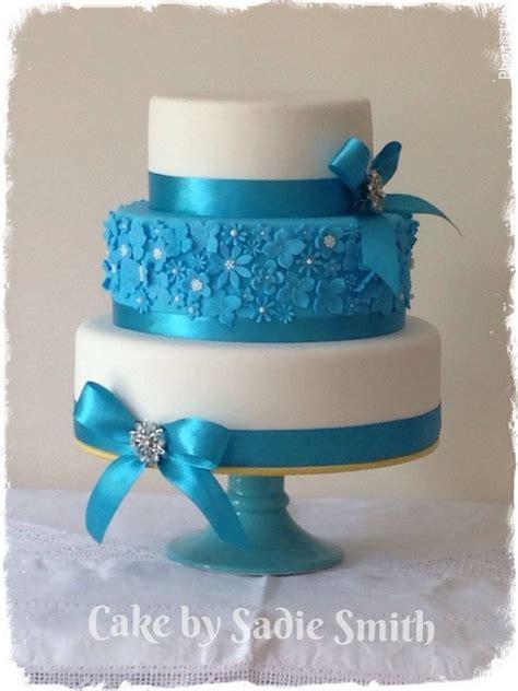 Turquoise Kitchen Ideas Turquoise Wedding Cake Cake By Sadie Smith