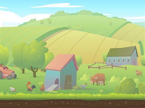 runner game farmland background  andrey pryvalov