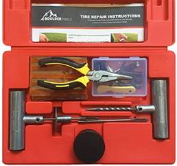 Heavy Truck Tire Repair Kit Boulder Tools Heavy Duty Tire Repair Kit 56 Pc Set For