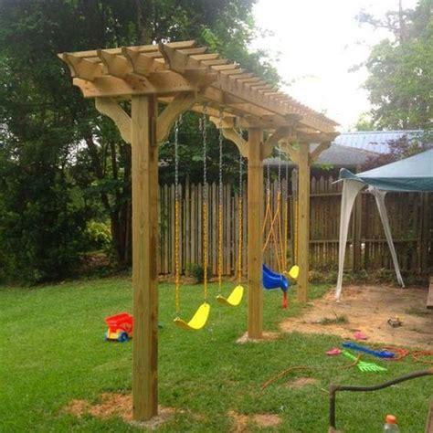 cool swing set ideas 25 best ideas about backyard swings on pinterest swings