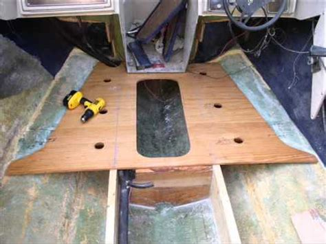 how to replace a floor in a fiberglass boat boat floor replacement youtube