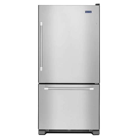 Single Door Refrigerator With Bottom Drawer Freezer by Maytag Mbf1958dem 19 Cu Ft Single Door Bottom Freezer