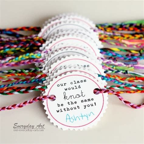 Everyday Art: Friendship Bracelet Valentines