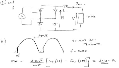 diode bridge rectifier equations inductor single phase diode bridge rectifier inductive