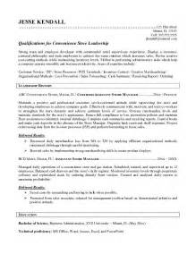 Convenience Store Clerk Sle Resume by Best Store Manager Resume Exle Recentresumes