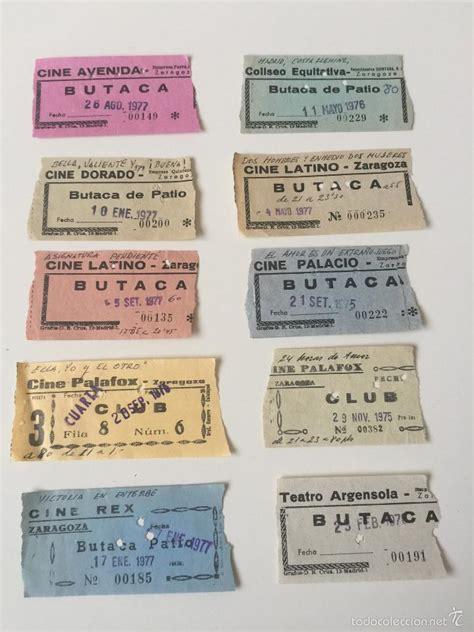 cines entradas 10 entradas antiguas de cines zaragozanos lote comprar