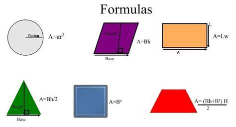 area formula mlcs8z formulas for finding area
