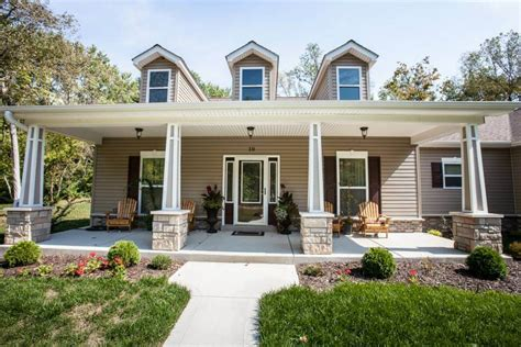 Small Home Builders Missouri Ferguson Missouri Custom Home St Louis Covered Porch