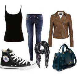 with brown leather jacket polyvore