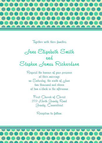 polka dot invitation template polka dots wedding invitation wedding invitation