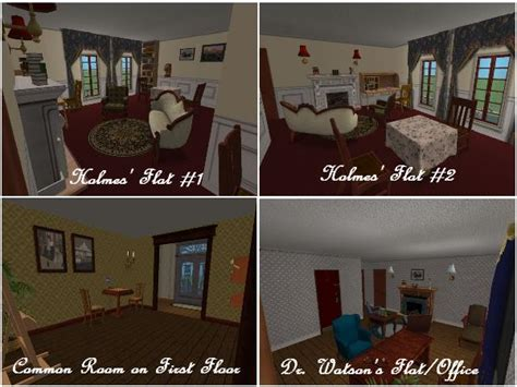 sherlock themed bedroom mod the sims 221 b baker street london residence of