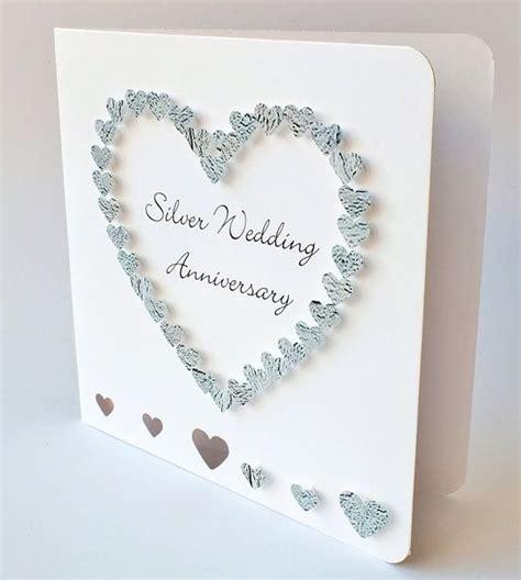 Handmade 3D 25th Wedding Anniversary Card   25th