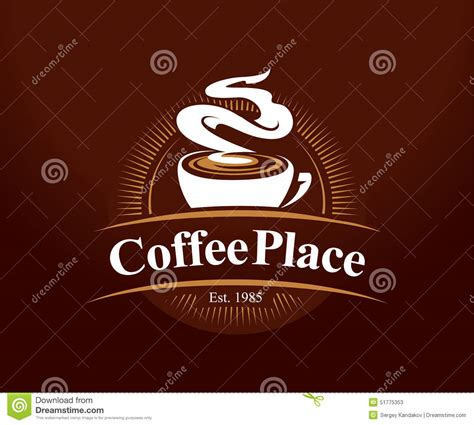 16 coffee shop logo design coffee place logo stock vector image of graphic creative