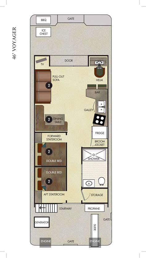Make A Floorplan the voyager economy houseboat available for rent at lake