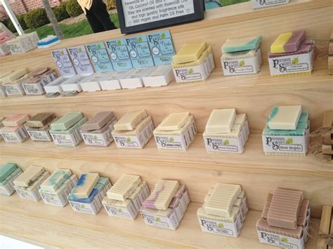 soap craft for soap display craft show booth perennialsoaps